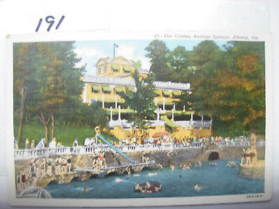 Postcard Georgia , Albany,the Casino,radium Springs,postmark 1942 #191