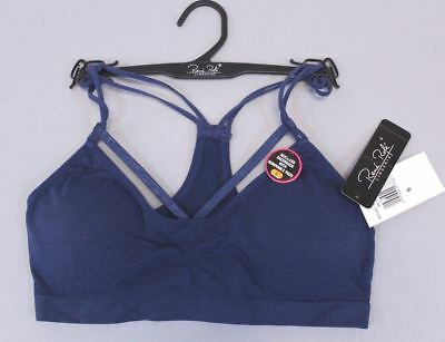 a73f3db64ea Rene Rofe Women s Strappy-Front Seamless Racerback Bralette AB3 Navy Small  NWT
