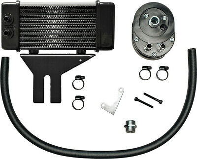 Jagg Oil Coolers Horizontal 10 Row Oil Cooler Chrome Low Mount 750-2580