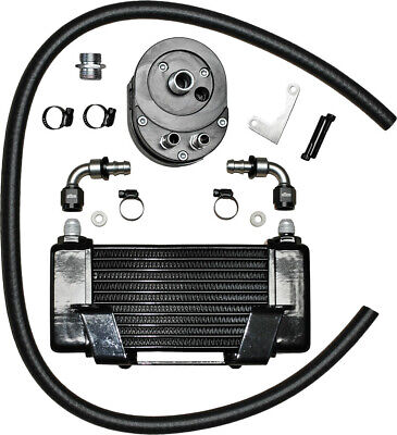 Jagg Oil Coolers Horizontal 10 Row Oil Cooler Black Low Mount 750-2400