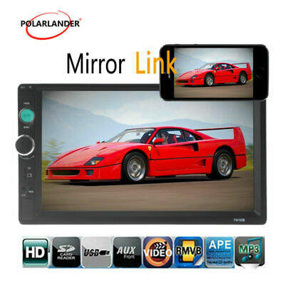 "7"" Car Radio Bluetooth Stereo 2Din MP5 Player USB/AUX/FM Touch Screen Head Unit"