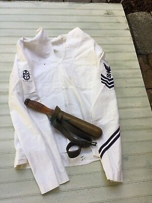 WW2 US Navy Divers Knife & Divers Jumper