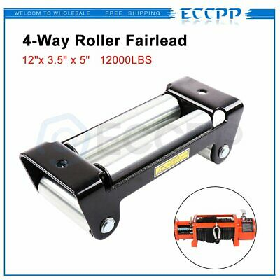"ECCPP Heavy Duty Winch Roller Fairlead 10"" Universal 4 Way Roller Cable Guide"