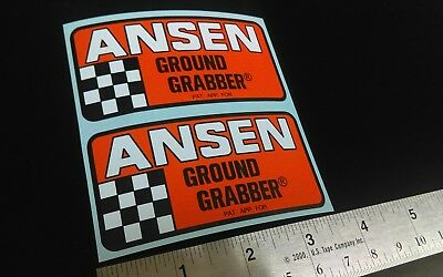 Ansen Ground Grabber Traction Bar Decals Stickers Racing Decals