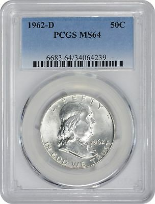1962-D Franklin Silver Half Dollar MS64 PCGS