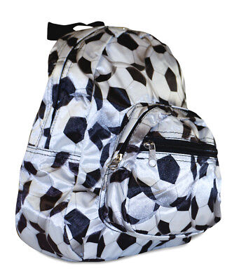 Girls Kids Soccer Sports Print Toddler Backpack Mini Preschool Small