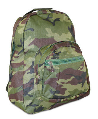 Boys Camo Camouflage Toddler Backpack Mini Small Preschool Green
