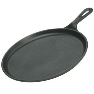Cast Iron Pan For Pancakes Pizza Dosa Eggs Oven Gas Stove Flat Griddle LODGE