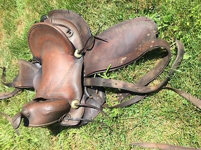 Nice Early Simco Round Skirt Western Pleasure Saddle Fantastic Condition 4 Age