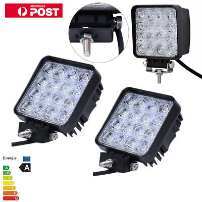 48W LED work lights offroad car truck tractor ATV UTV Trailer Boat Lamps IP67 2X