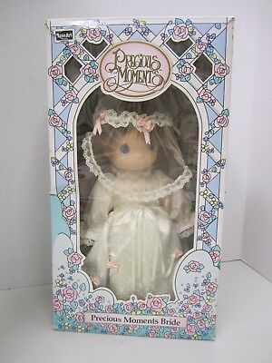 Precious Moments Bride Doll - 1992 Rose Art - 10 Inch Vinyl Doll - Combable Hair