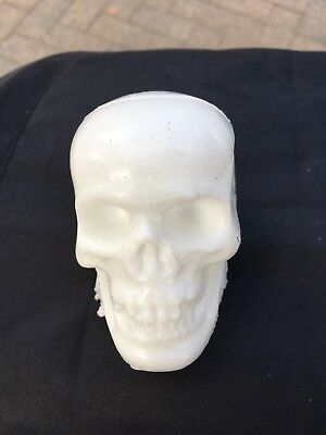 White Skull Mold A Rama Matic Plastic Wax Figure Figurine Souvenirs Halloween