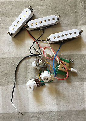 GFS Stratocaster Strat Single-Coil Pickups Set of 3 Wired w/ Pots & 5-Way Switch