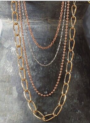 Fancy Link Chain 14K Yellow Gold Unique Open Links 38 Inch Length