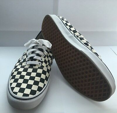 7a161353bf02f2 Vans Golden Coast Authentic Checkerboard Black White - Size 11 Skate Shoes