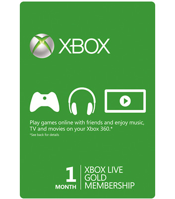 Xbox Live Gold 1 Month Membership Code, Xbox One 360, Genuine & Legal