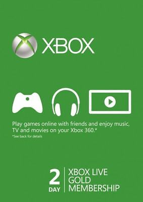 Xbox Live Gold Trial 48 Hour Membership Code, Xbox One 360, Genuine & Legal