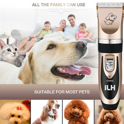 Professional Pet Dog Cat Animal Clippers Hair Grooming Cordless Trimmer Shaver