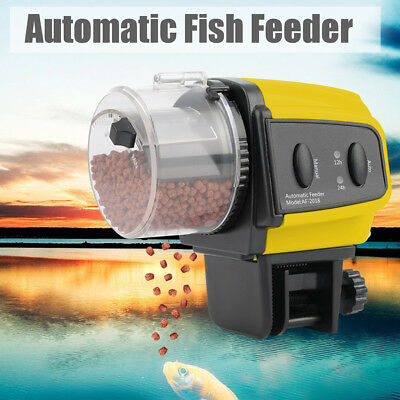 Auto Fish Feeder Adjustable Aquarium Food Automatic Timer Feeding For Fish
