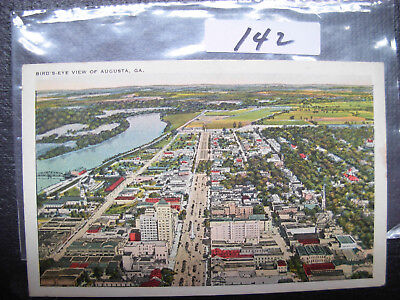 Postcard Vintage Georgia , Augusta, Bird's Eye View    #142
