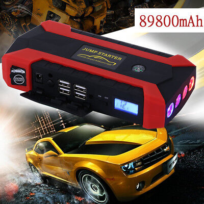 89800 mAh 12V 4 USB Car Jump Starter Pack Booster Charger Battery Power Bank
