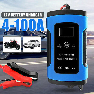 12V 6A Pulse Repair Intelligent LCD Car Jump Starter Battery Charger