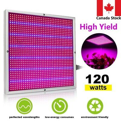 120W LED Grow Light Growing Panel Lamp for Hydroponic Veg Flower Indoor Plant