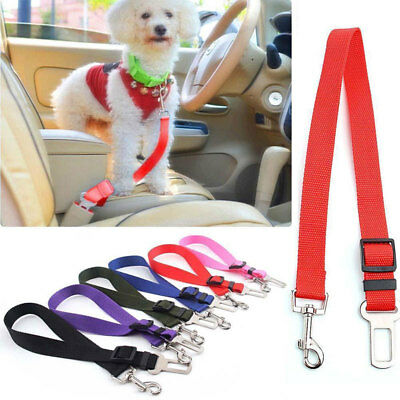 Adjustable Dog Cat Pet Car Safety Seat Belt Harness Restraint Lead Collar New
