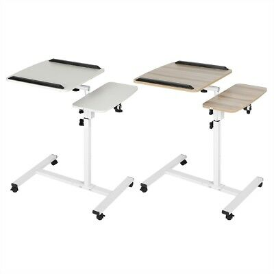 Portable Mobile Laptop Desk Computer Sit Stand Work Height Adjustable Table