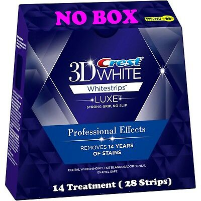 14 Pouches 28 Strips Crest 3D White LUXE Professional Effects Whitestrips NO BOX