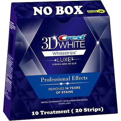 10 Pouches 20 Strips Crest 3D White LUXE Professional Effects Whitestrips NO BOX