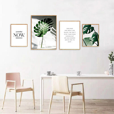 BANANA LEAVES CANVAS Painting Wall Art Poster Quotes Nordic