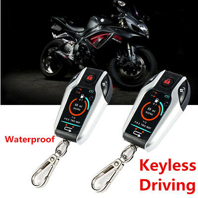 PKE 2 Two Way Remote Motorbike Anti-theft Real-time Alarm System Keyless Driving