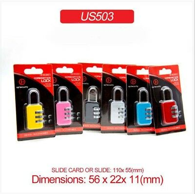 3 Digit Security Combination Luggage Travel Suitcase Zipper Code Lock Padlock