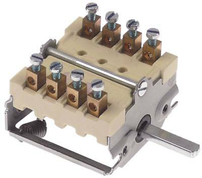 Cam Switches Axle Ø 6x4, 6x23mm Connection Screw Terminal 4-polig 16a