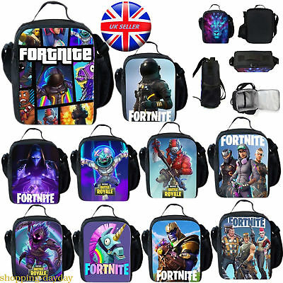 kids Fortnite Battle Royal Lunch Bag School Box Shoulder Handbag Hot Selling