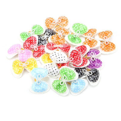 100pcs Cute Pet Hair Bow Grooming Band Dog Cat Puppy Headwear Accessories