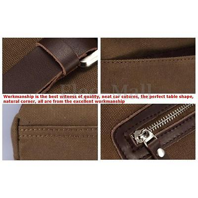96cf21e33c Men s Laptop Crossbody School Bag Zip Canvas Messenger Shoulder Satchel