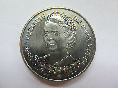 1980 TRISTAN Da CUNHA CROWN GREAT BRITAIN QUEEN MOTHER QUEEN ELIZ 1900-1980 UNC