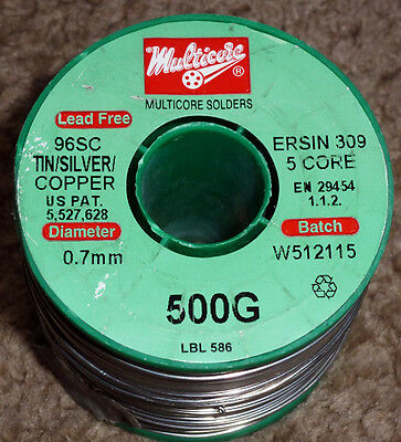 1 or 2  mtrs of Genuine Multicore 96SC Lead-free solder  3.8% Silver - 3 sizes