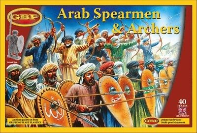 28mm Saracens Gripping Beast Plastic Arab Spearmen & Archers