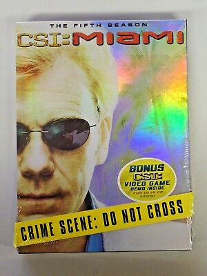 CSI: MIAMI The Complete Fifth Season DVD Brand New Sealed w/Video Game Demo