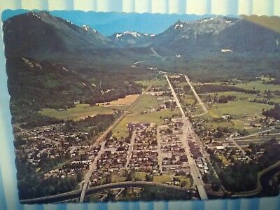 Vintage Photo Post Card Aerial View Over North Bend Washington