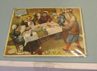 1886 Great Atlantic & Pacific Tea Co. On Board Ship Large Victorian Trade Card