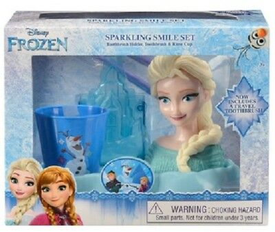 Sparkling Smile set Frozen Toothbrush Rinse Cup & Holder Set Girls Gift