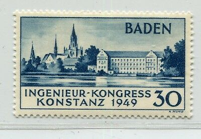 GERMANY FRENCH OCCUPATION ZONE BADEN 1949 CONSTANCE SCOTT 5N41a PERFECT MNH