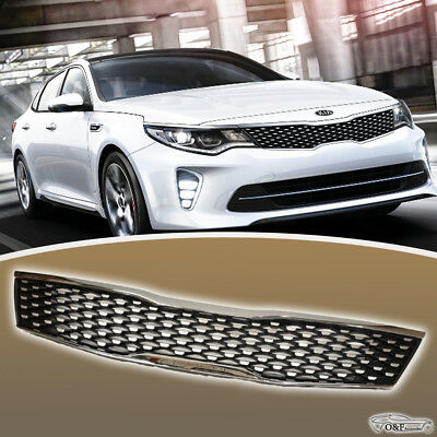 Kia Optima Front Grille Chrome Trim Gloss Black Grill fits years 2016 to 2018