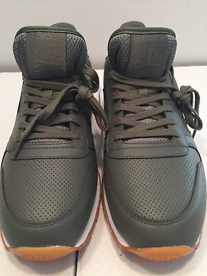 8b0fd8627c0 8ba4d472750 Reebok Classic CL Leather PG Trainers Olive Green Size 12 (free  Shipping ) ...