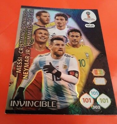 CARD INVINCIBLE TOP MASTER Nr. 468 ADRENALYN WORLD CUP RUSSIA 2018 PANINI