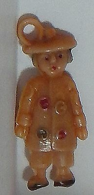 Vintage Celluloid Asian Japanese Chinese Person Charm Japan